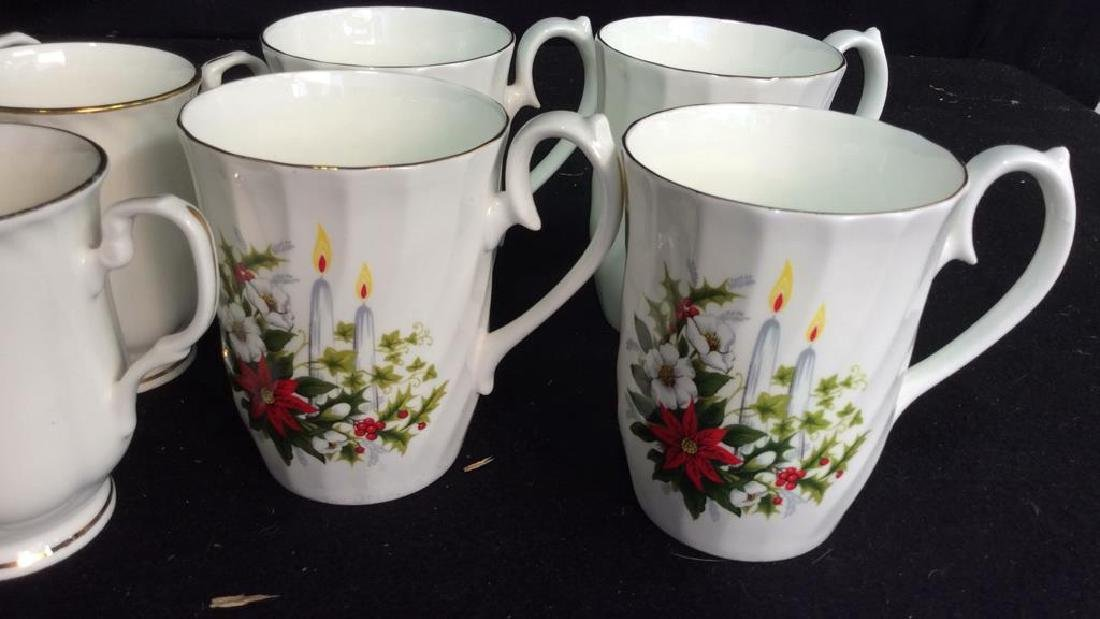 Group Staffordshire 14 Porcelain Mugs England One set - 3