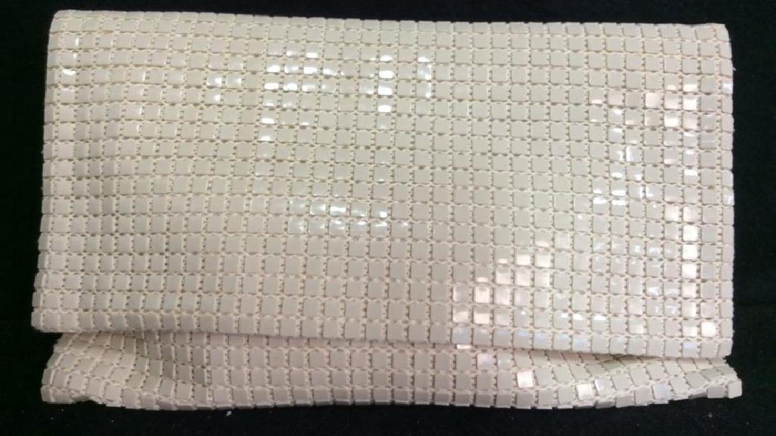 Vintage French Beaded Clutch Bag White Beaded Clutch