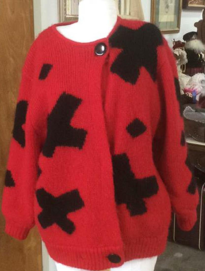 Group Women's Designer Sweaters Pinks to Reds Group Lot