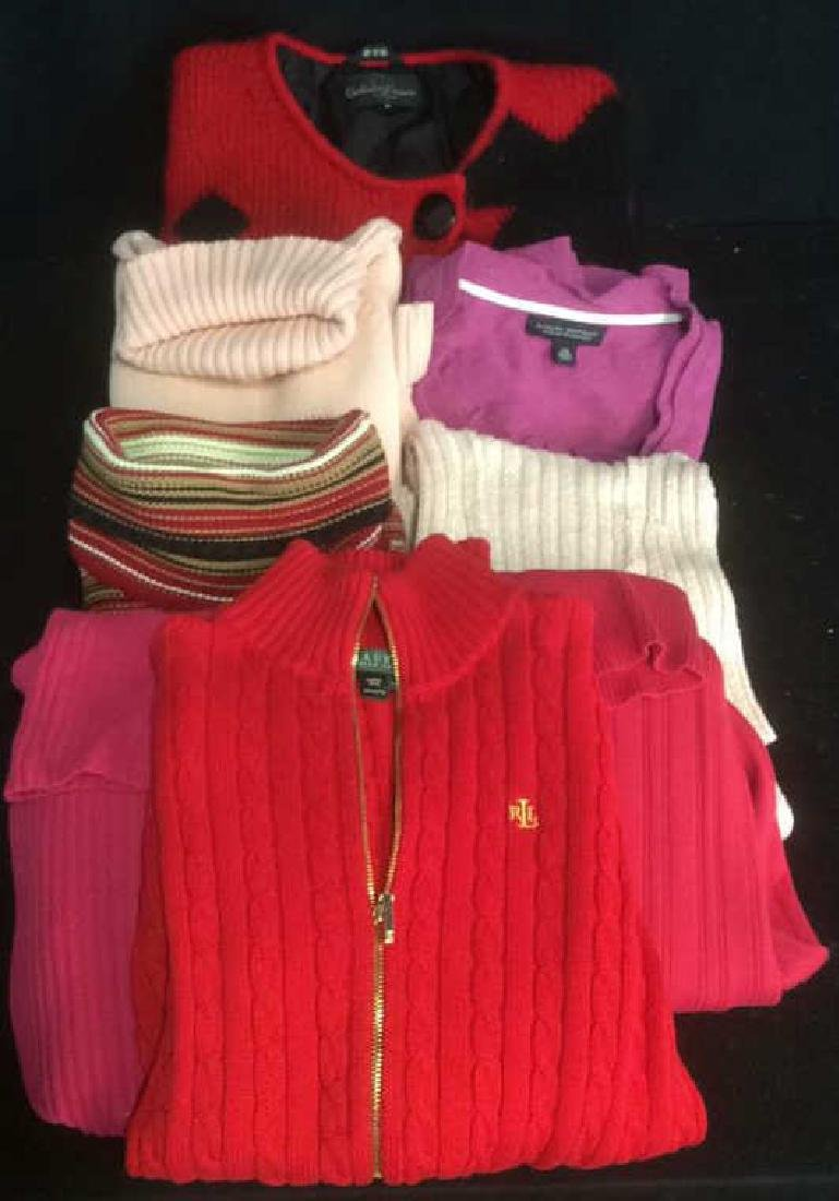 Group Women's Designer Sweaters Pinks to Reds Group Lot - 3