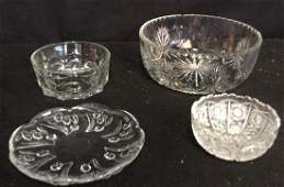 Group Lot Crystal and Glass 1 cut crystal Waterford