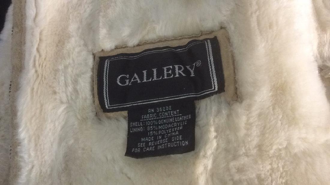 Women's Blonde Leather Jacket Faux Fur Lined Gallery - 5