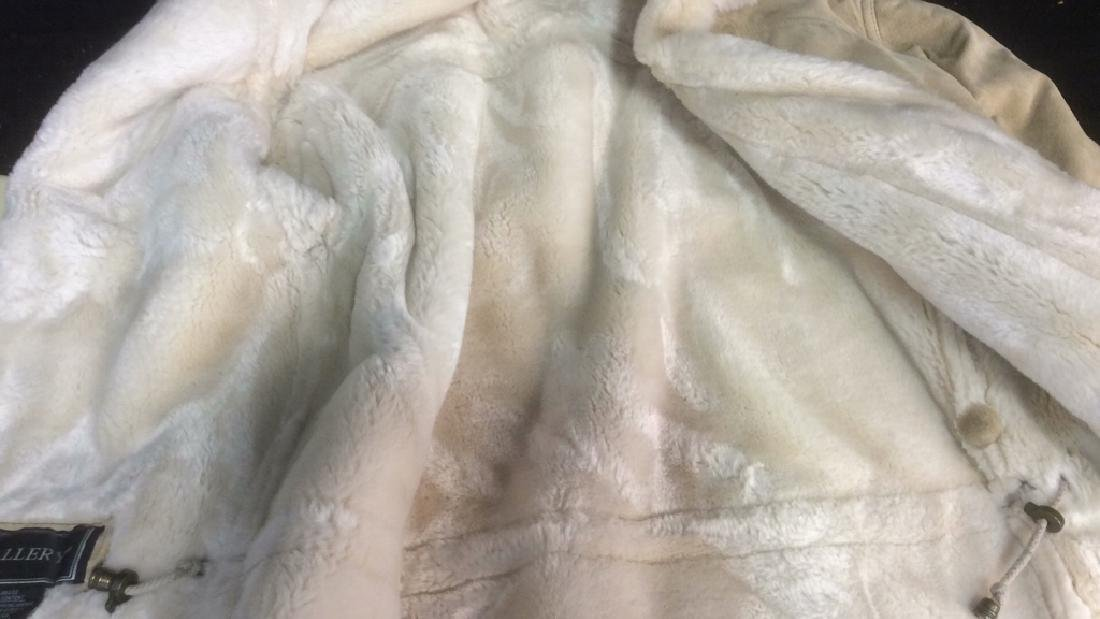 Women's Blonde Leather Jacket Faux Fur Lined Gallery - 6