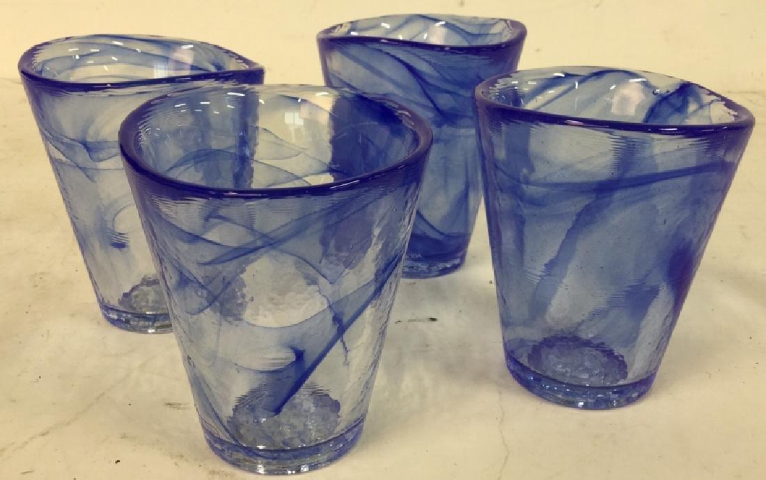 4 Kosta Boda Glass Tumblers Set of four Kosta Boda Blue