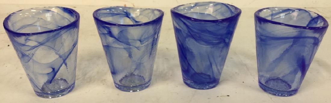 4 Kosta Boda Glass Tumblers Set of four Kosta Boda Blue - 2