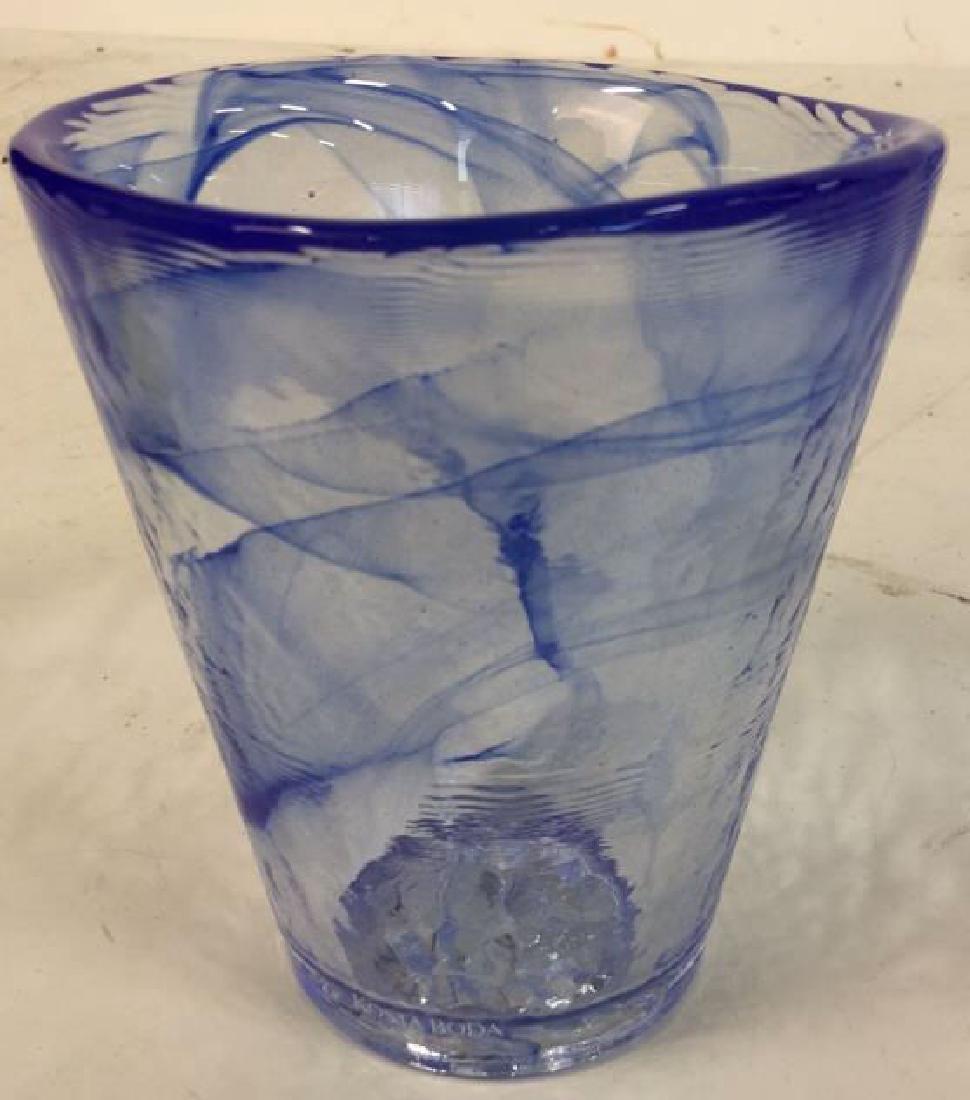 4 Kosta Boda Glass Tumblers Set of four Kosta Boda Blue - 3