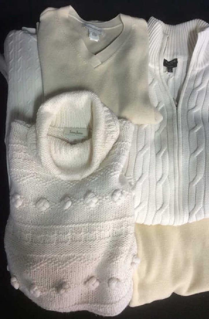 Group Women's Designer Sweaters Ivory Colors Group Lot