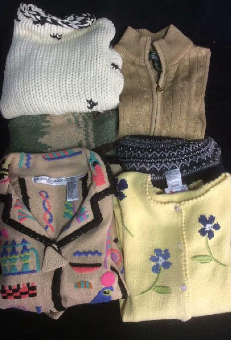 Group Women's Designer Sweaters Embellished Group Lot - 4