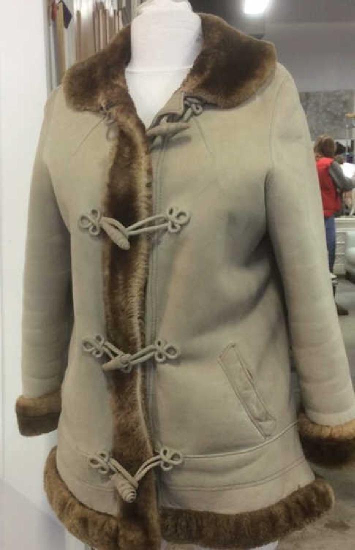 Women's Warm Jacket Light and Dark Brown Women's size