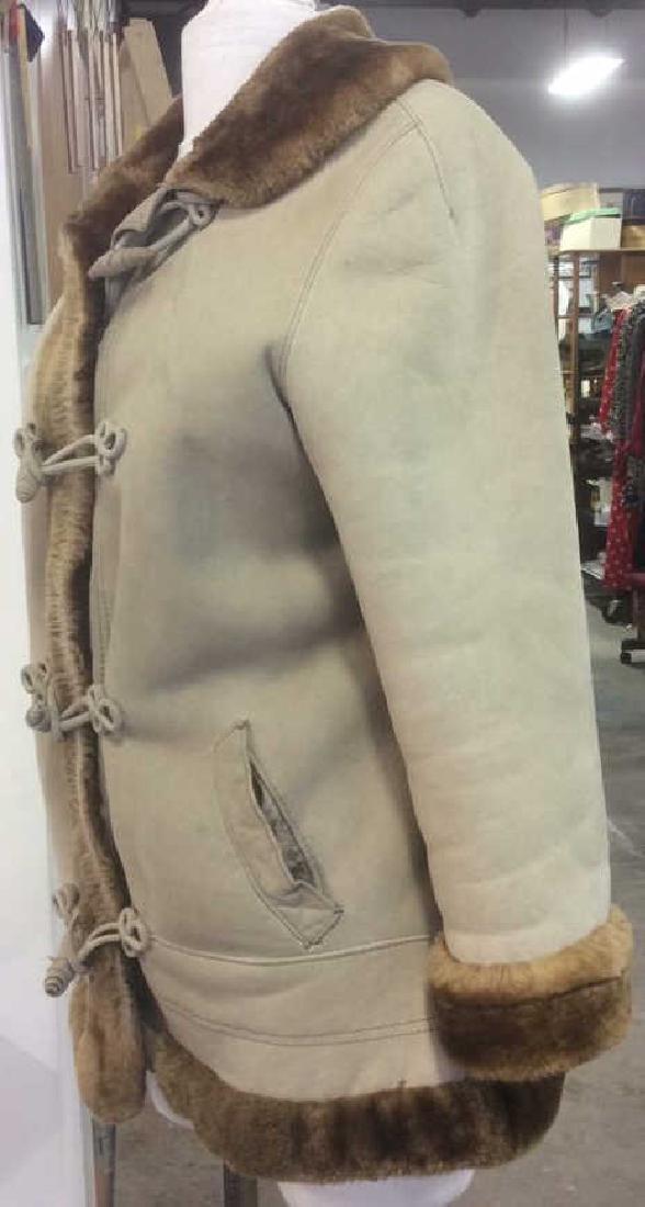 Women's Warm Jacket Light and Dark Brown Women's size - 2