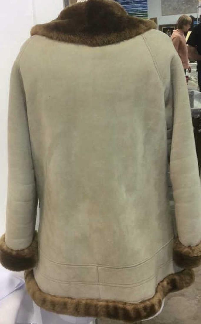 Women's Warm Jacket Light and Dark Brown Women's size - 3