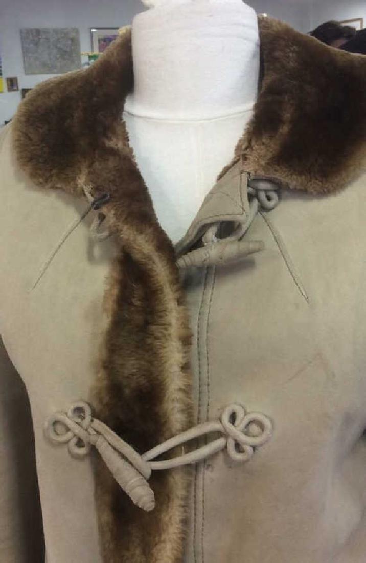 Women's Warm Jacket Light and Dark Brown Women's size - 4