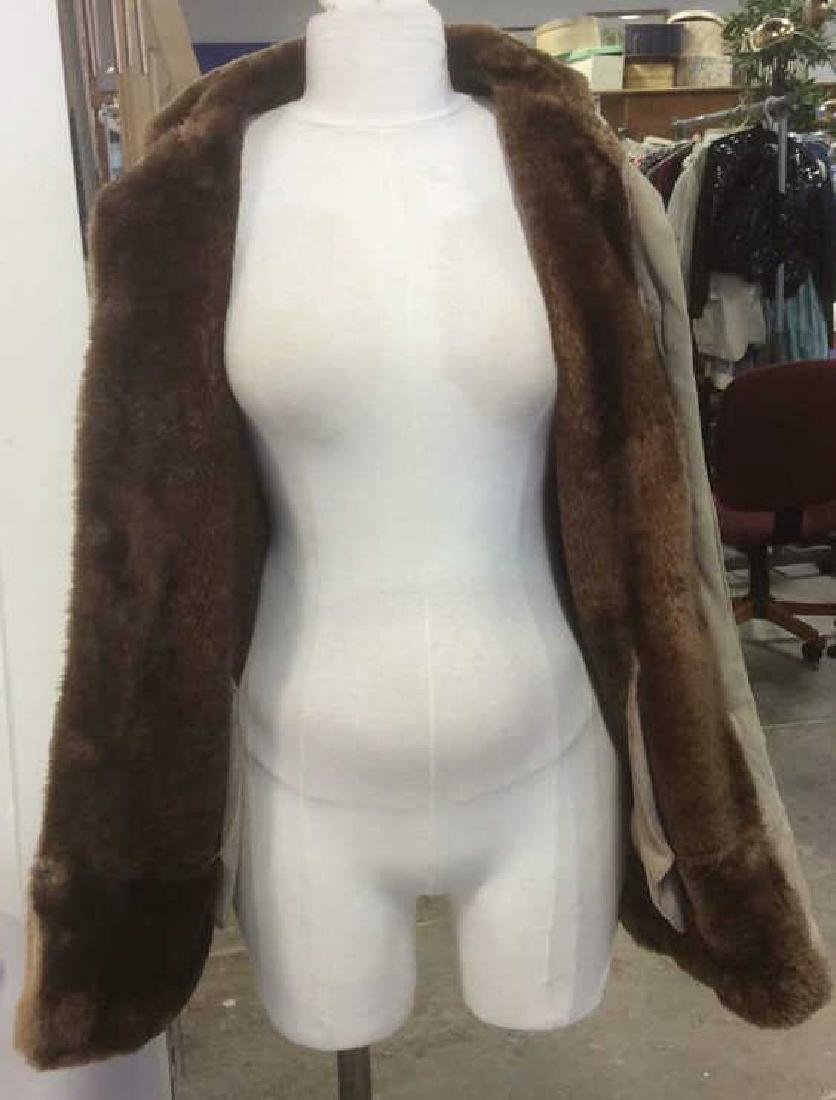 Women's Warm Jacket Light and Dark Brown Women's size - 5