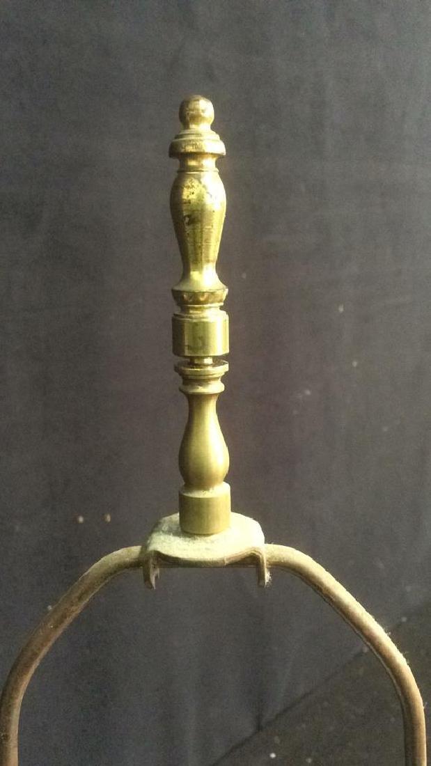 Vintage Asian Handpainted Floral Ginger Jar Lamp - 4