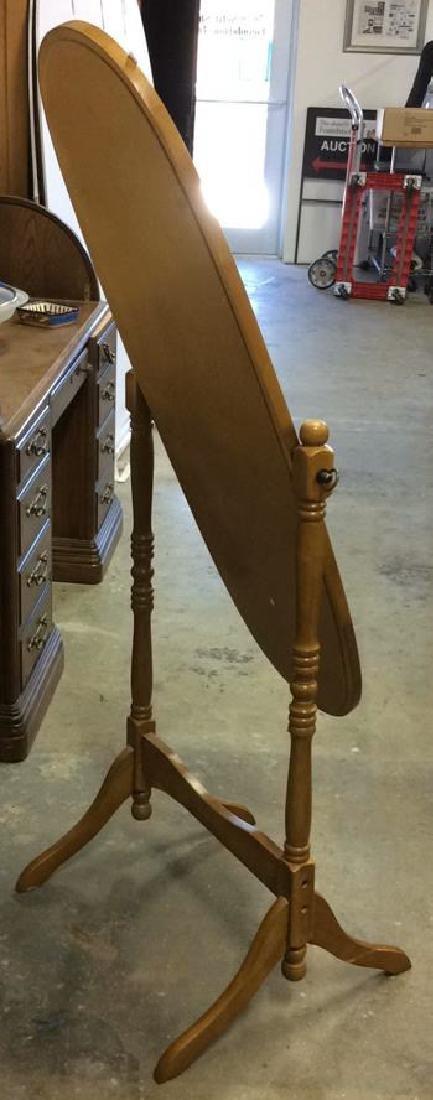 Vintage Floor Tilt Oval Mirror Floor standing Full - 6