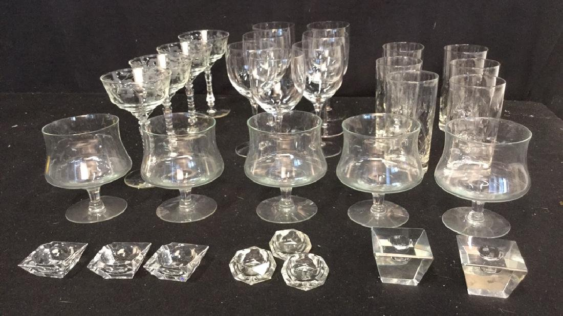Group Lot Of Assorted Glassware Assortment of glassware