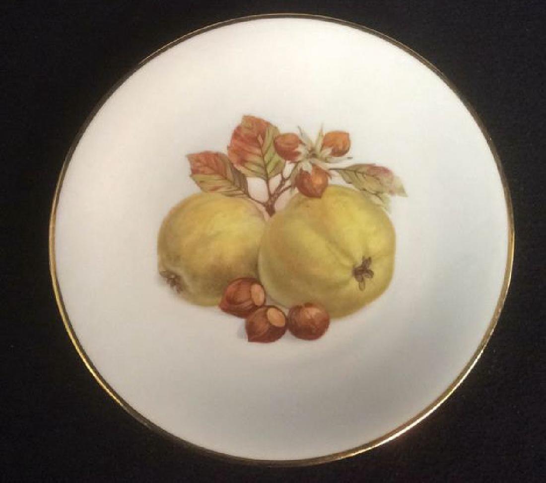 5 Vintage Bareuther Germany Fruit Decor Plates Vintage - 3