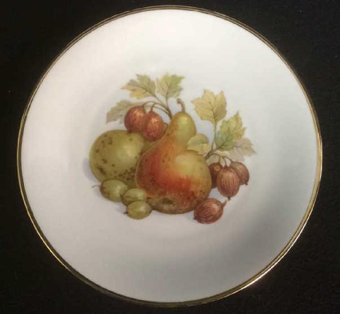 5 Vintage Bareuther Germany Fruit Decor Plates Vintage - 4