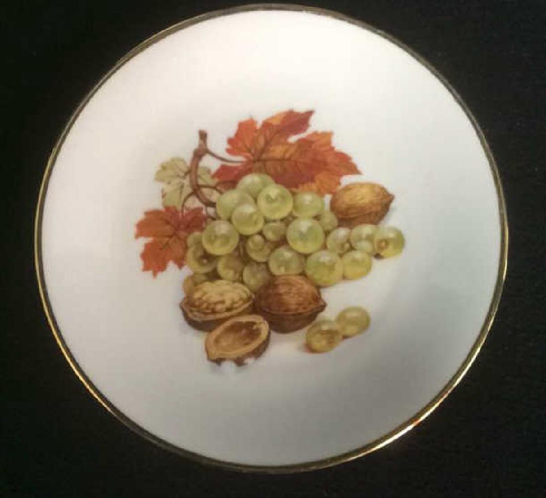 5 Vintage Bareuther Germany Fruit Decor Plates Vintage - 5
