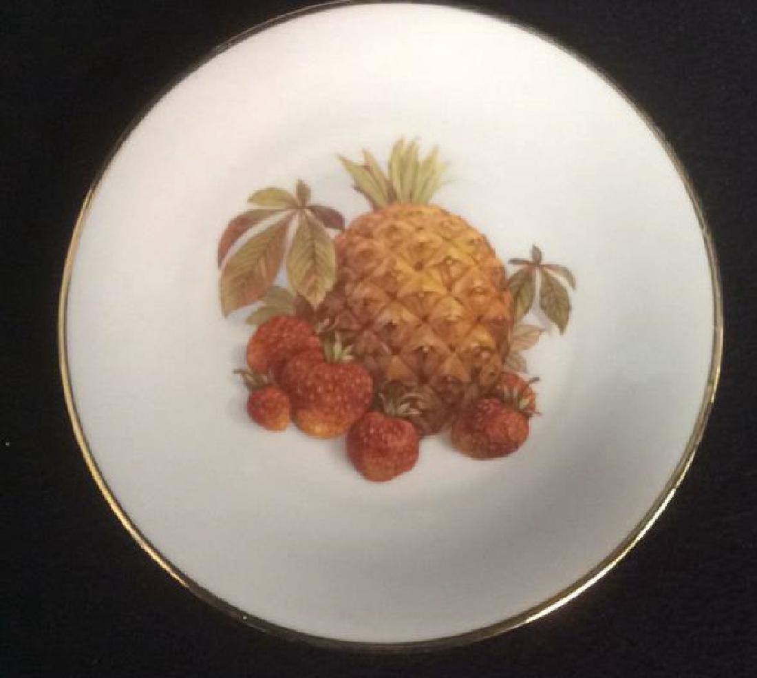 5 Vintage Bareuther Germany Fruit Decor Plates Vintage - 6