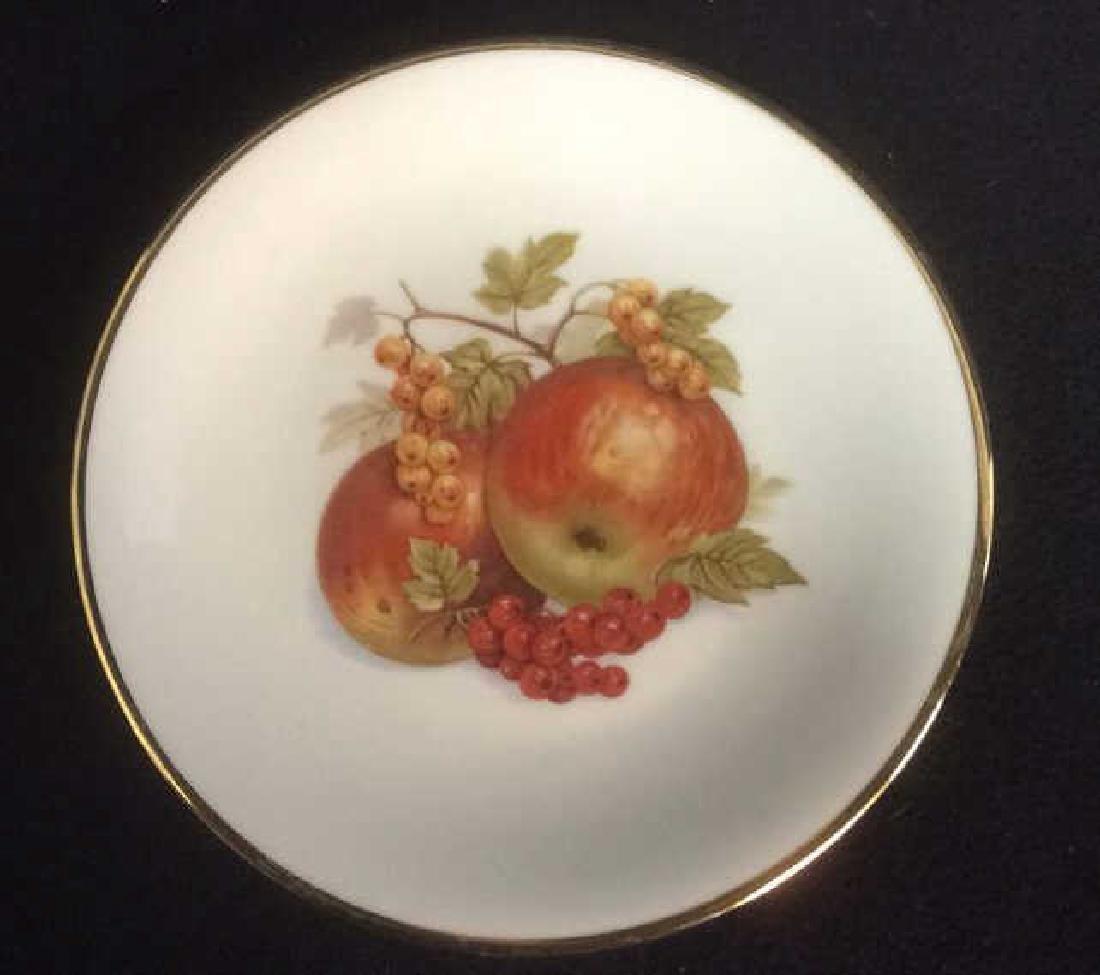 5 Vintage Bareuther Germany Fruit Decor Plates Vintage - 7