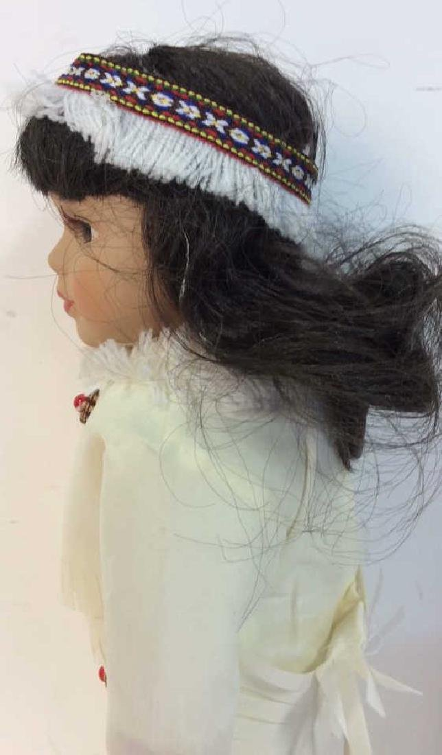 Collectible Porcelain  Native American Doll With - 5