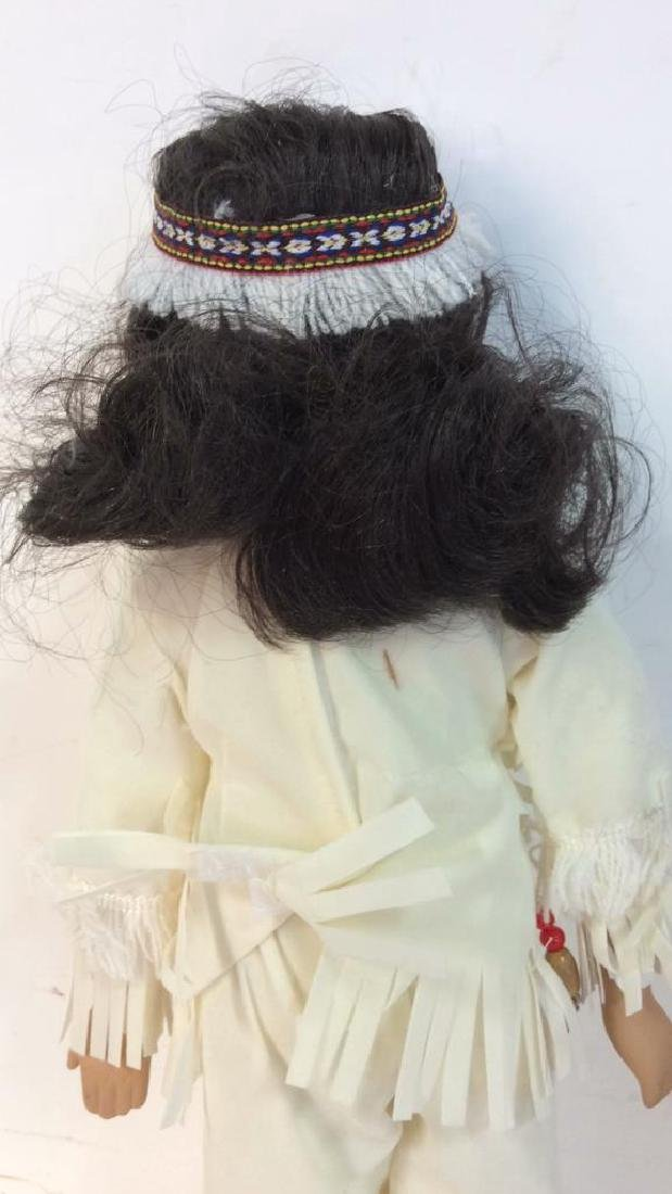 Collectible Porcelain  Native American Doll With - 6
