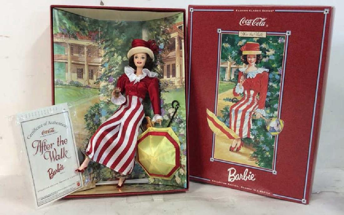 Vintage Coca Cola Barbie Box and Papers Collectible