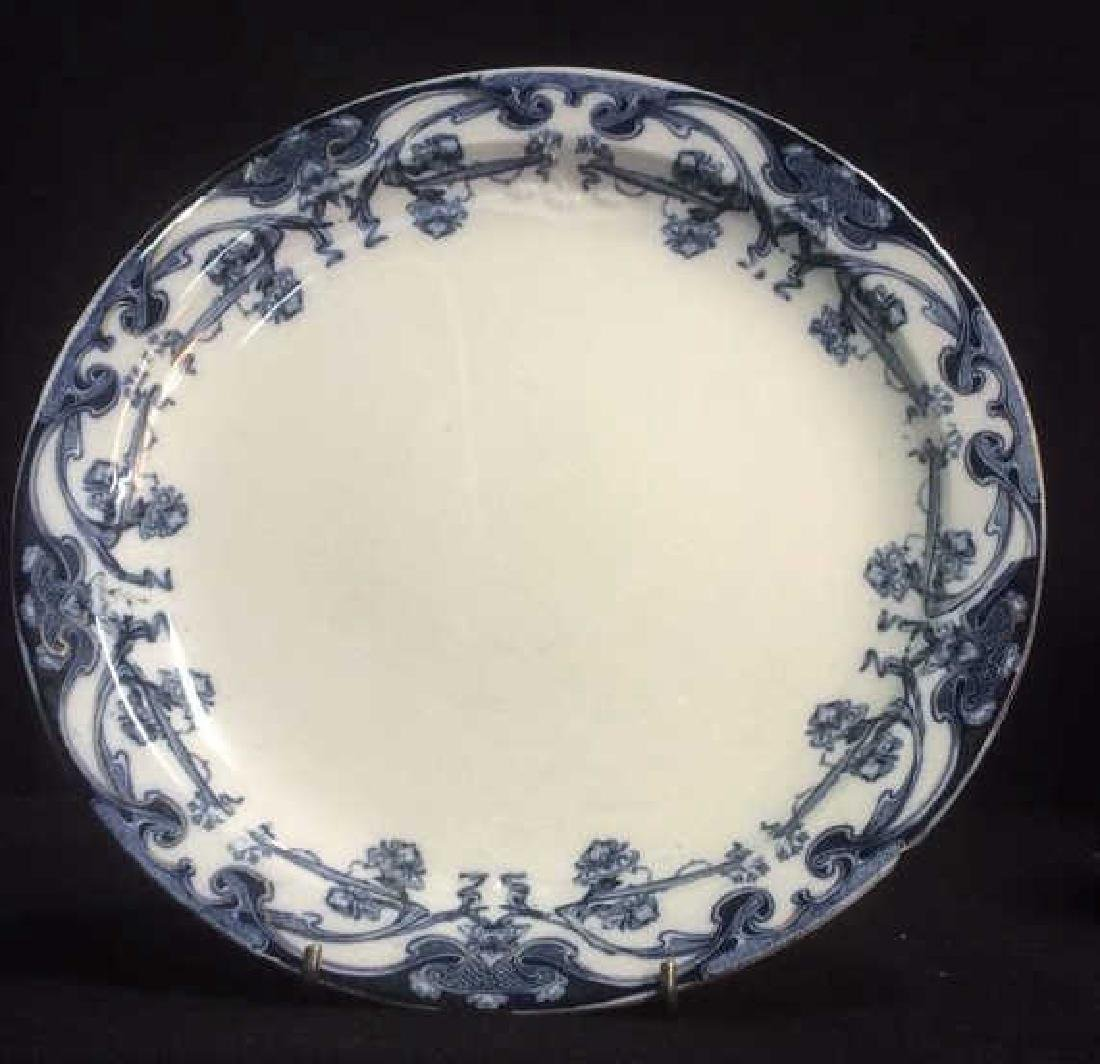 Royal Staffordshire Burslem England Iris Plate Royal - 2