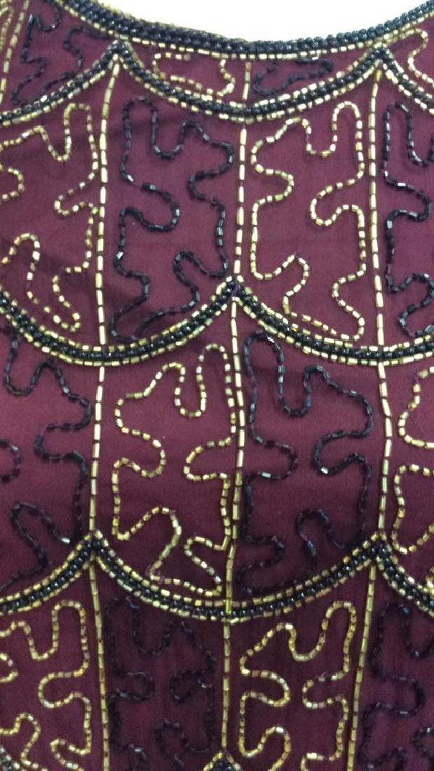 Vintage Gold Black Beaded Silk Top Vintage top made in - 3