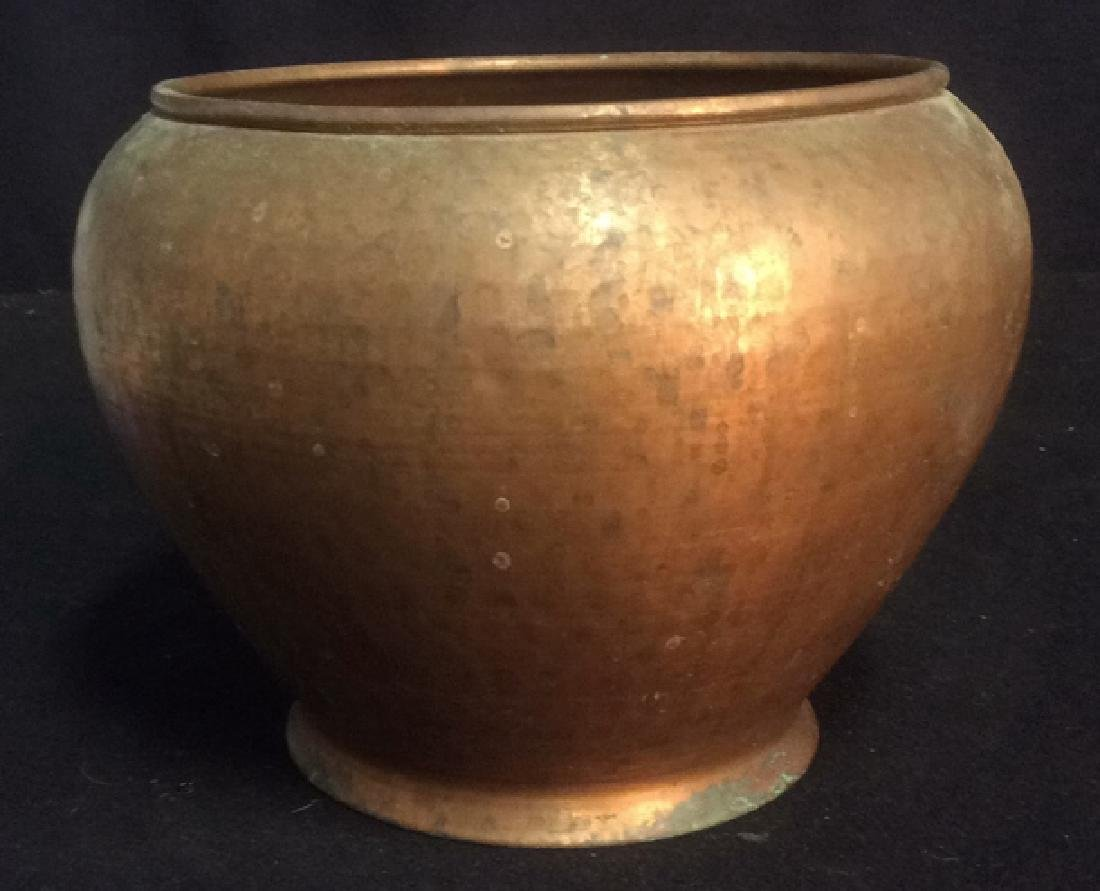 Hammered Copper Pot Planter Smith and Hawken Hammered