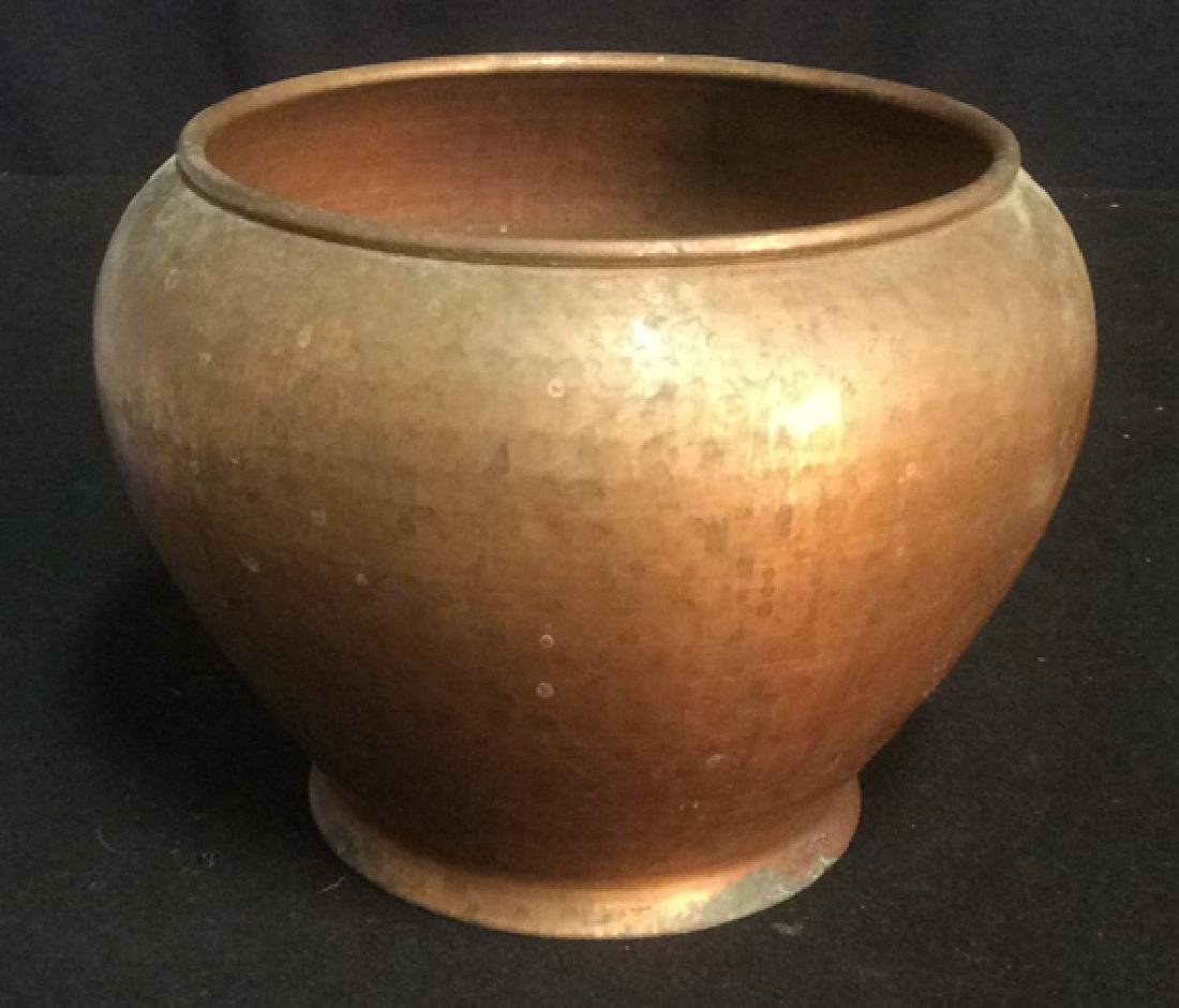 Hammered Copper Pot Planter Smith and Hawken Hammered - 2