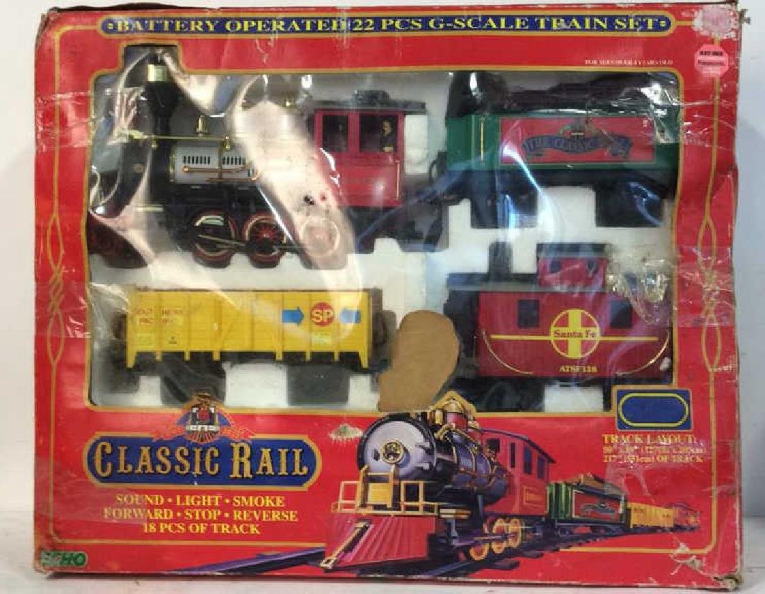 Collectible Boxed G-Scale Train Set Battery operated 22