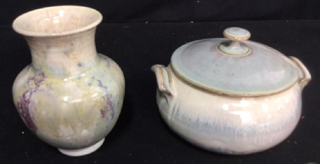 Ceramic Pottery Tabletops 2 decorative handmade ceramic