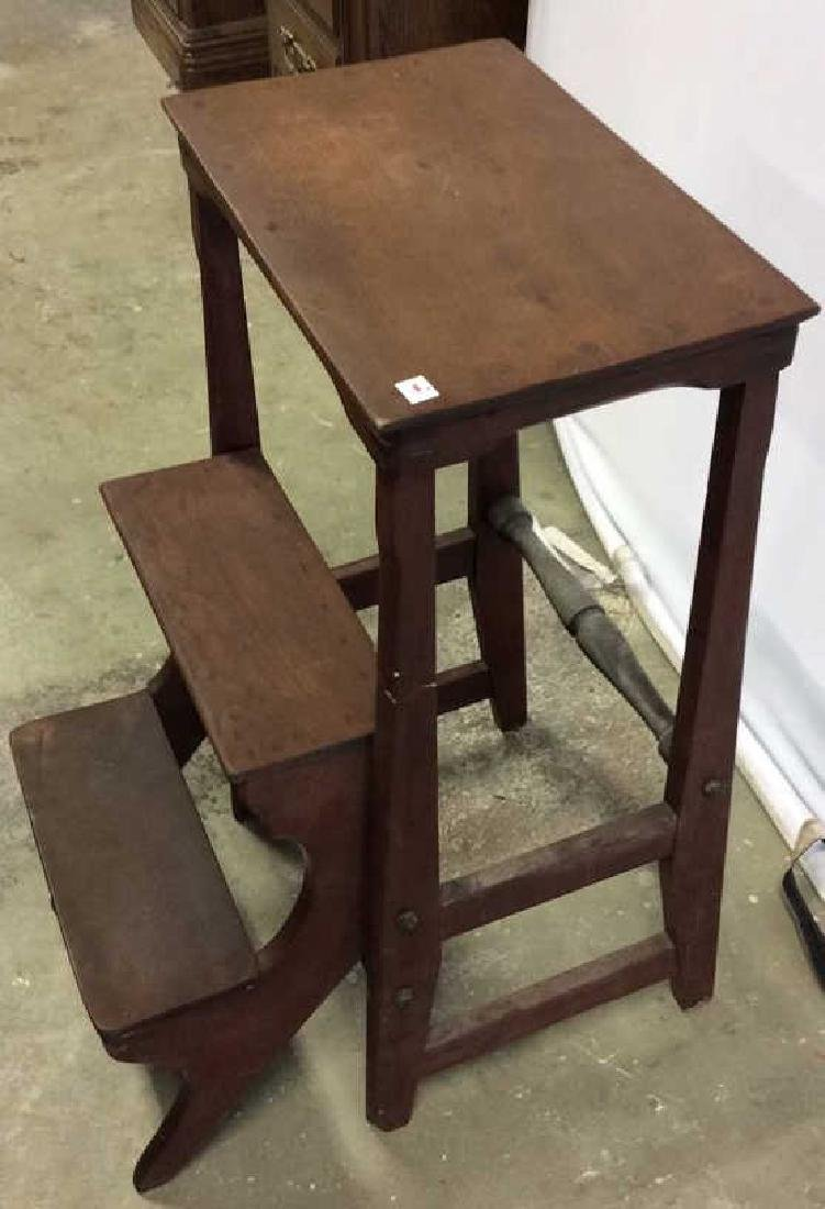 Vintage Library Steps folds into End Table End table