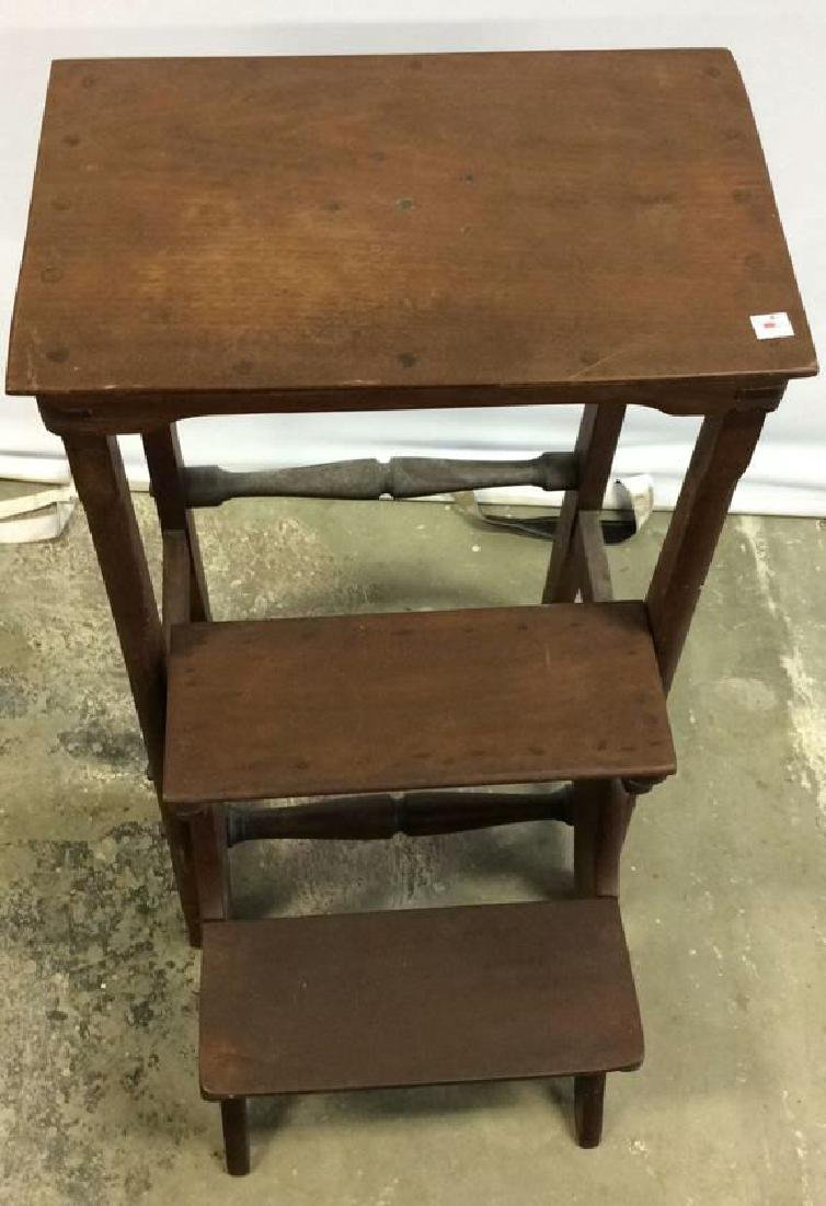 Vintage Library Steps folds into End Table End table - 5