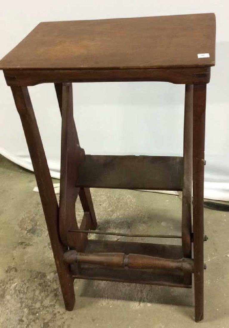 Vintage Library Steps folds into End Table End table - 7