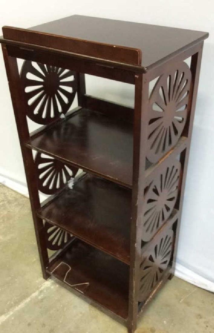 Vintage Book Stand With Display Top Mahogany Book stand