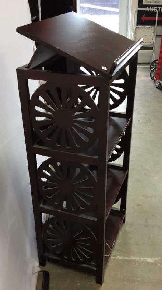 Vintage Book Stand With Display Top Mahogany Book stand - 3