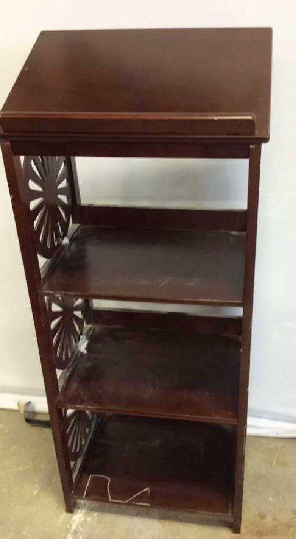 Vintage Book Stand With Display Top Mahogany Book stand - 5