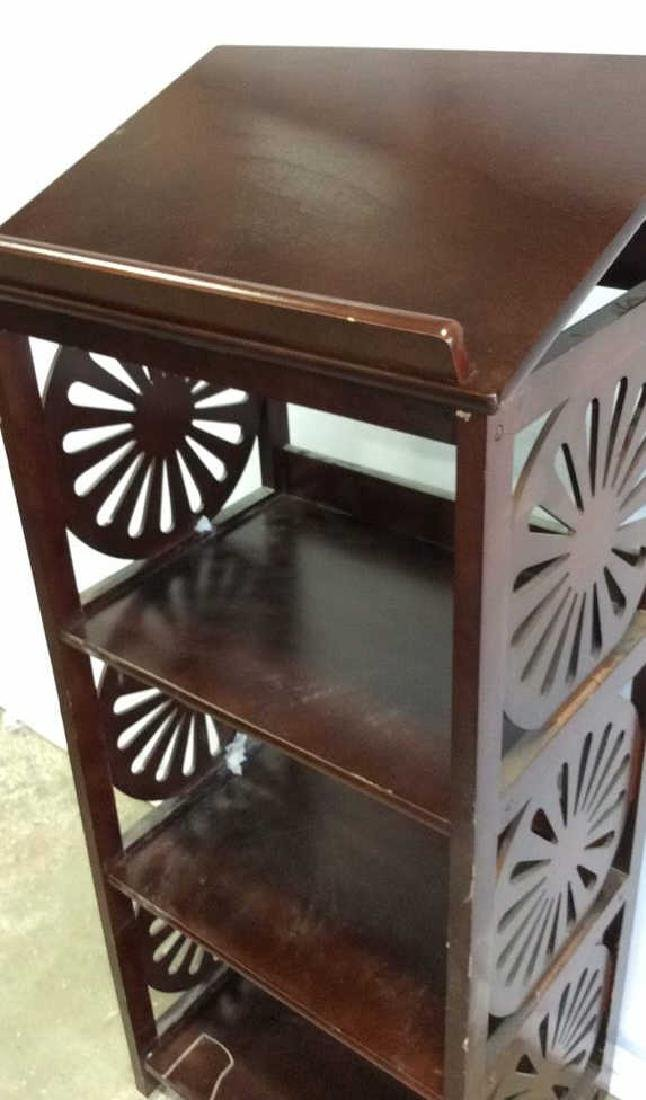 Vintage Book Stand With Display Top Mahogany Book stand - 6