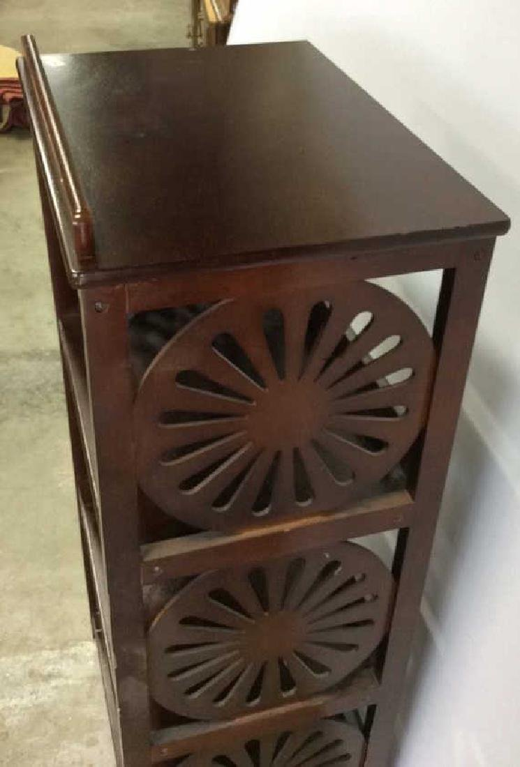 Vintage Book Stand With Display Top Mahogany Book stand - 7