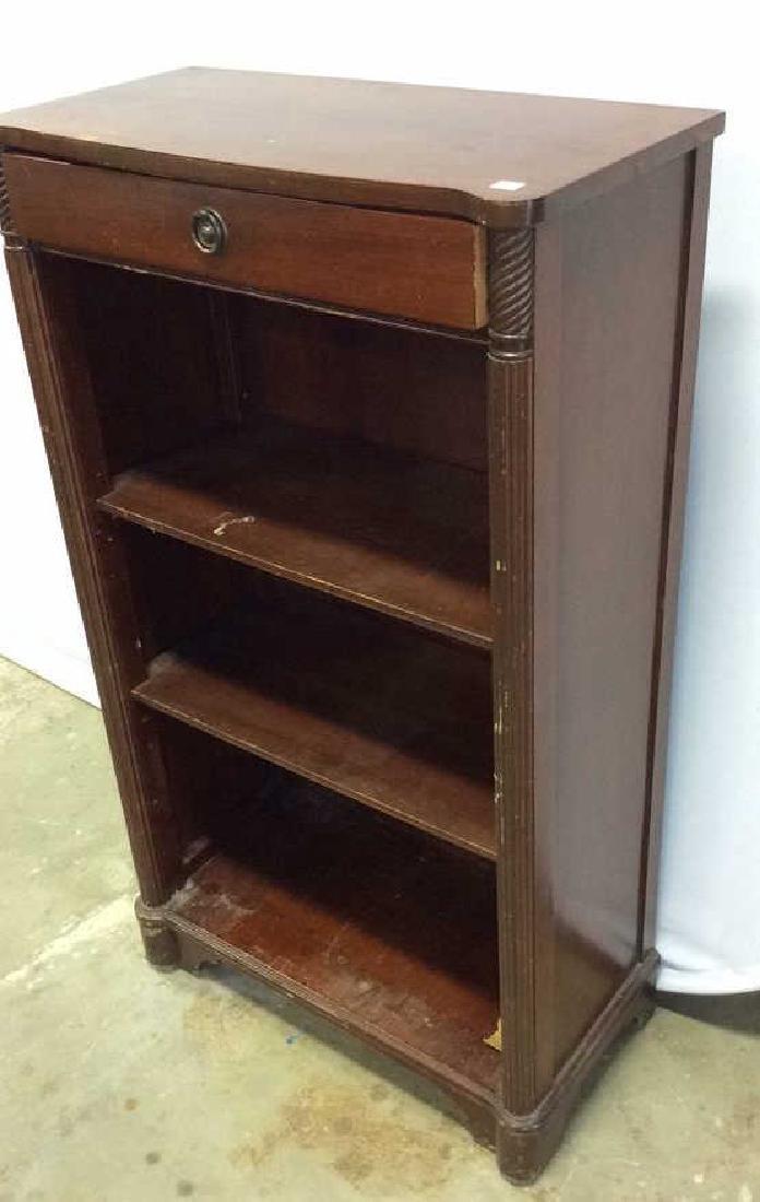 Vintage Mahogany Book Shelf with Drawer Mahogany Book
