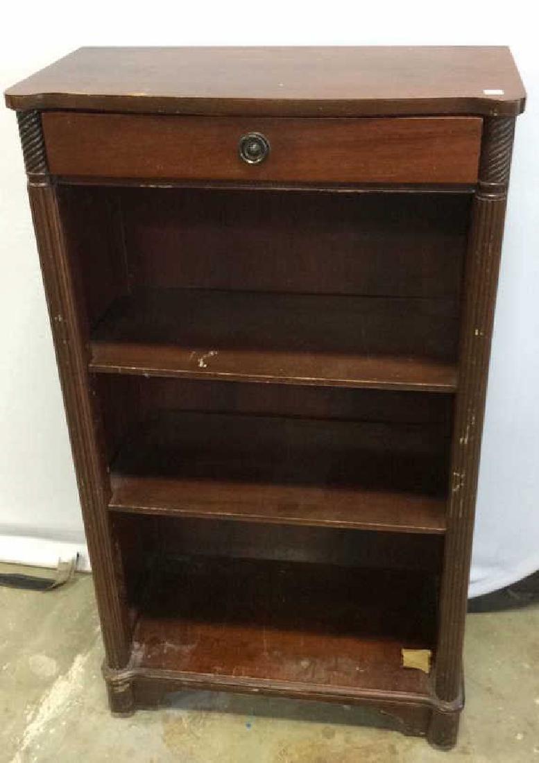 Vintage Mahogany Book Shelf with Drawer Mahogany Book - 2