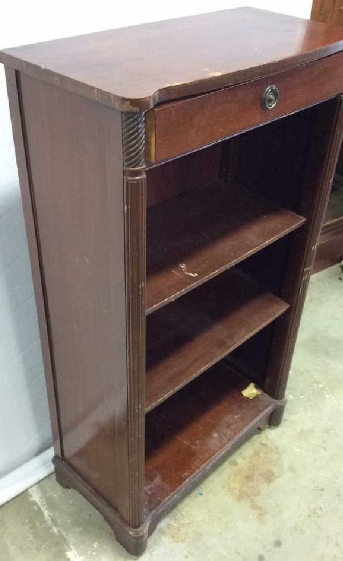 Vintage Mahogany Book Shelf with Drawer Mahogany Book - 4