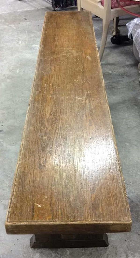 I rage Oak Trestle Table w 2 Benches Hand made Verplank - 8