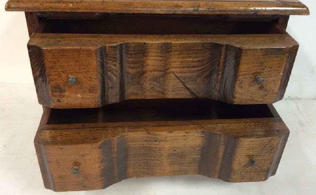 Antique two drawer commode Antique two drawer wood - 4