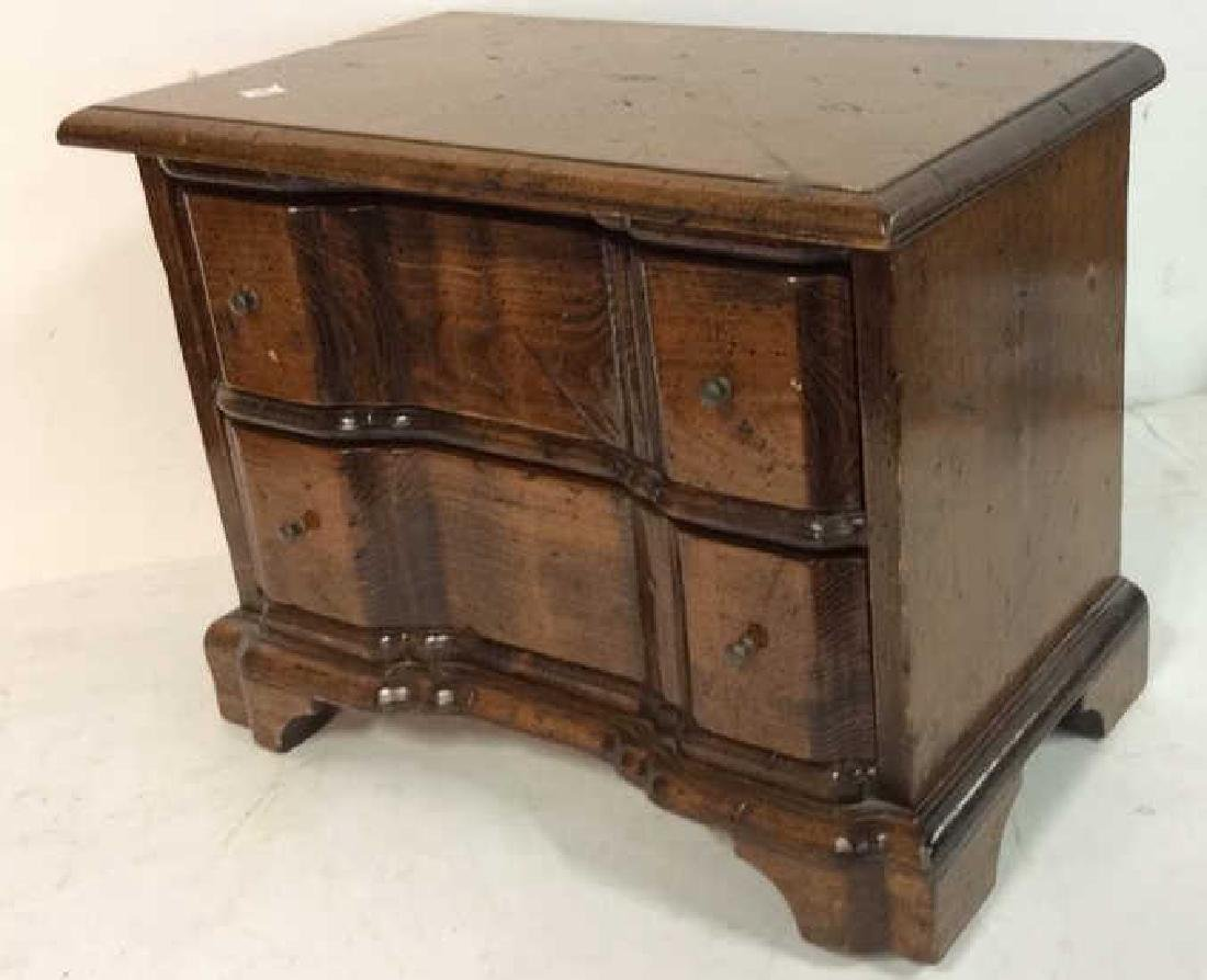 Antique two drawer commode Antique two drawer wood - 8