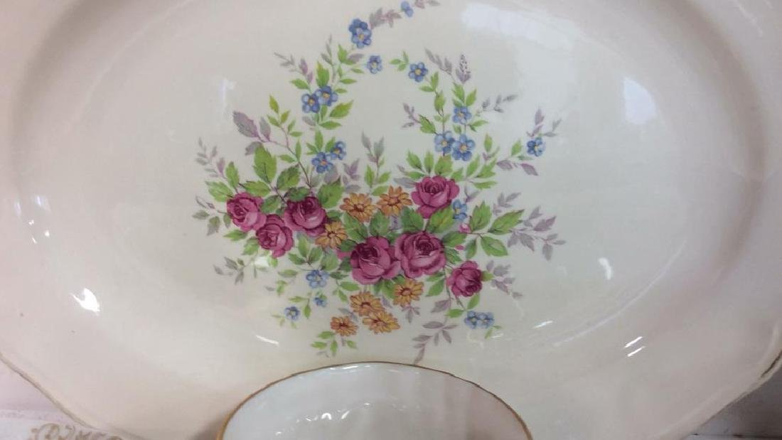 Group Lot Vintage Platters and Plates Assorted plates - 4