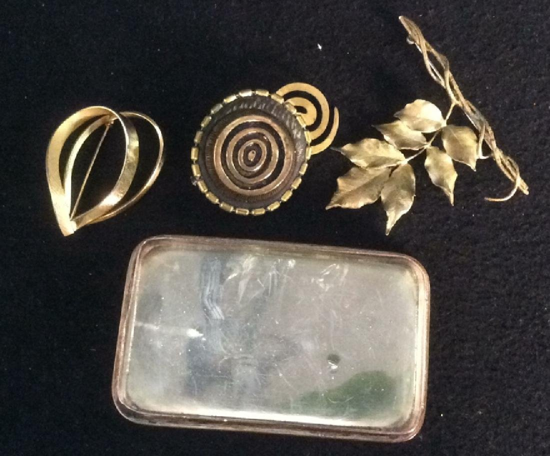 Group of Costume Jewelry Silverplate Trinket Tray Group - 10